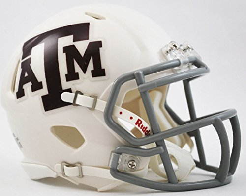 (Riddell NCAA Texas A&M Aggies White Revolution Speed Helmet)