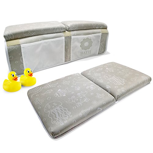Bath Kneeler and Elbow Rest, Thick Baby Bath Kneeling Pad and Elbow Support, Fast Drying Machine Washable Anti-Mold Neoprene Material for Your Comfort and Safety During Bathing Time by Bath Blossom