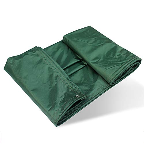 LIXIONG Tarpaulin Waterproof Heavy Duty Tent Wear Resistant Tarpaulin Anti-aging Sunscreen Lightweight Open Air Outdoor Size Can Be Customized, 0.45mm (Color : ArmyGreen, Size : 1.8x2.8m) by LIXIONG-pengbu