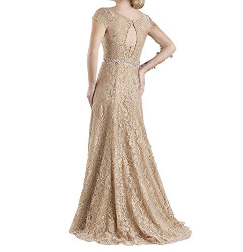 Champagner Brautmutterkleider Abendkleider Partykleider Lang La Ballkleider Champagner A Spitze Linie mia Braut PXwq8pZ6