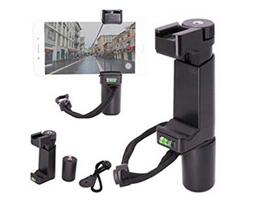 OCTO MOUNTS | F-Mount Mobile Smartphone Camera Grip Holder Handle Rig Monopod with Tripod Mount and Cold Shoe Mount for Filming Video on Most Smartphones - iPhone, iPhone Plus, Galaxy, Android by Octo Mounts