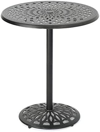 Christopher Knight Home Arlana Outdoor Cast Aluminum Bar Table, Shiny Copper Finish