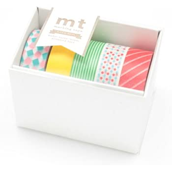 MT Kamoi Kakoshi Masking Tape Gift Box Pop, 15mm Width, 10mm Roll In 5 Pieces (MT05G001)