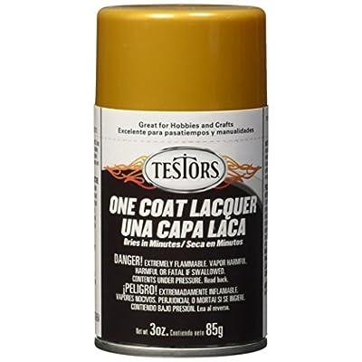 Testors 1846MT 3 oz. Lacquer Spray Gloss Paint, Pure Gold: Home Improvement