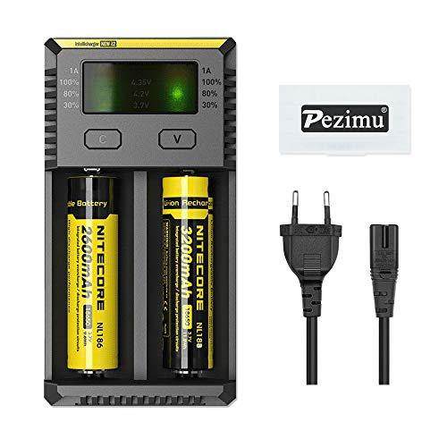 Pezimu New i2 Ladegerät für 18650 Akku e-Zigarette Batterie