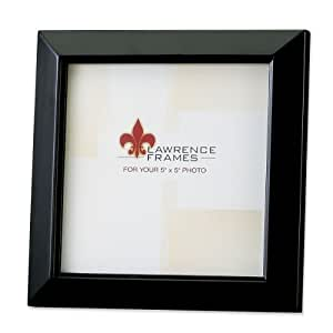 Lawrence Frames Estero Collection, Black Wood 5 by 5 Picture Frame