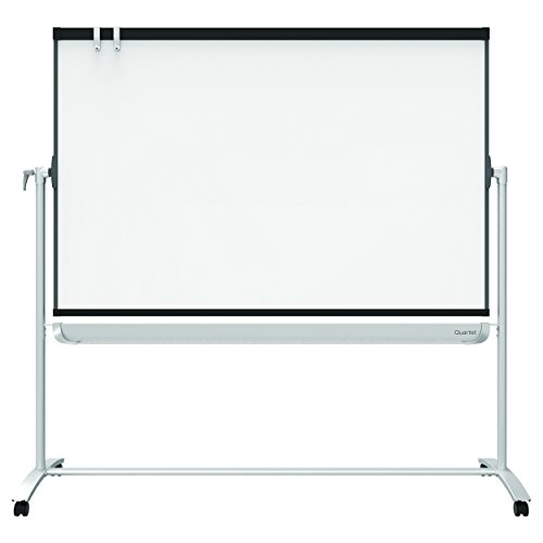 Quartet Mobile Easel, Prestige 2, Reversible Magnetic Whiteboard/Flipchart, 4' x 3', Graphite Frame (ECM43P2) by Quartet