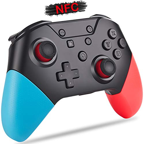 KINVOCA Wireless Switch Pro Controller, BT5.0, 500mAH Remote Gamepad for Nintendo Switch/Switch Lite/PC, Supports NFC…