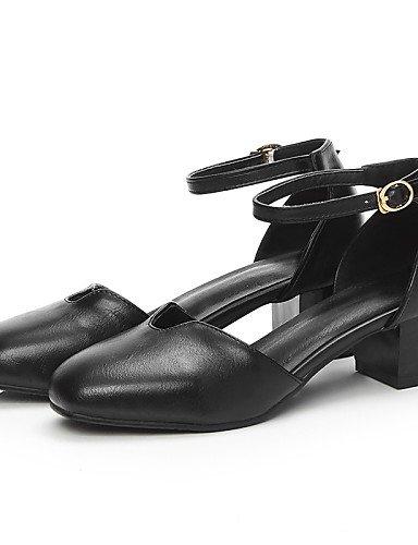 LFNLYX Zapatos de mujer-Tacón Robusto-D'Orsay y Dos Piezas / Punta Cuadrada / Punta Cerrada-Sandalias-Oficina y Trabajo / Vestido / Casual-PU- Yellow