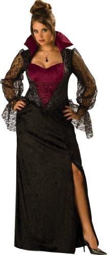 InCharacter Costumes Women's Midnight Vampiress Costume, Black/Burgundy, XXX-Large - Midnight Vampiress Costume