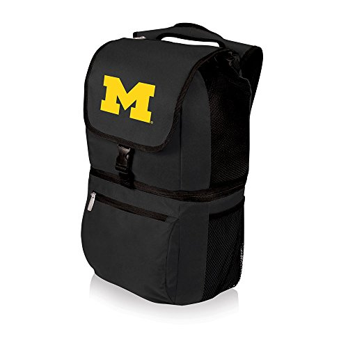 PICNIC TIME NCAA Michigan Wolverines Zuma Insulated Cooler Backpack, Black