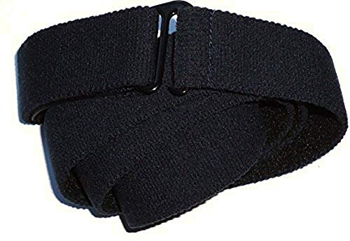 Slimware Stretch Unisex Buckle-Free Elastic Belt Made in USA Large Black