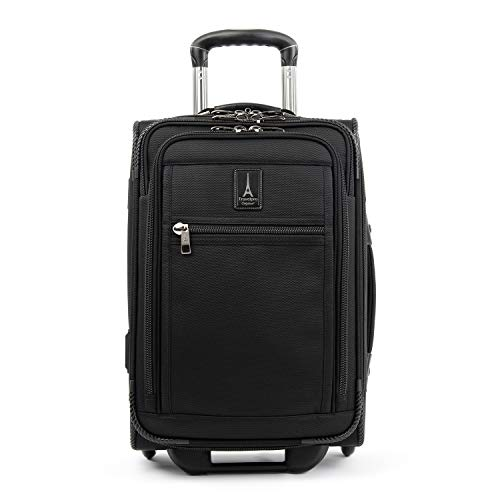 Travelpro Crew Expert Global Carry-on Expandable Rollaboard, Jet Black
