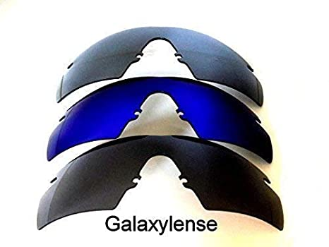 d545b2ff309 Galaxy Replacement lenses For Oakley M Frame Strike Black Blue Titanium  Color 3 Pairs