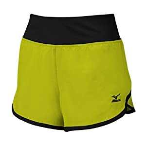Mizuno Women's Dynamic Cover Up Shorts, Lemon/Black, Large