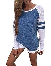 SMTSMT Women Shirt, Fashion Women Ladies Long Sleeve Splice Blouse Tops Clothes T Shirt