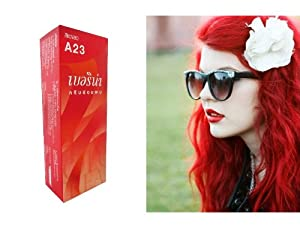 4. Berina (A23) Permanent Hair Color Dye Bright Red Color: 1 Box