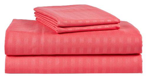 Microfiber Queen 6pc Bed Sheet Set Egyptian, Deep Pocket Deep Pocket (Hot Pink, Queen)
