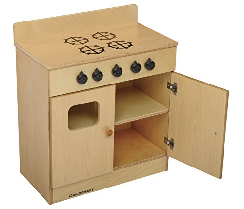 Childcraft Play Stove, 24 x 13-3/8 x 27-3/4 in by Child Craft