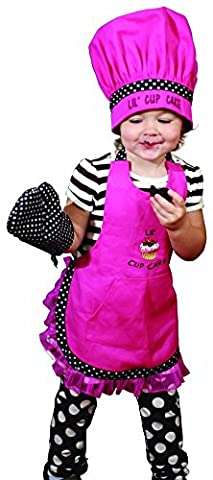 Manual Woodworkers and Weavers Child's Kitchen Apron, Hat, and Oven Mitt Set Lil' (Chefs Mitt)