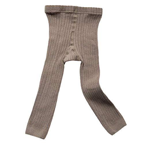 Happy Kido Toddler Baby Basic Ribbed Leggings Footless Tights Kids Little Girls Dress Bottom Pants (Gray, 1-3 Years)