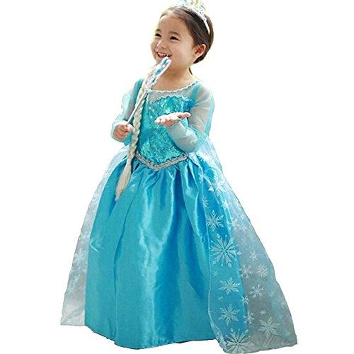 Baby Girl Dress Birthday Party Wear Frocks Frozen Elsa Anna Costume ...