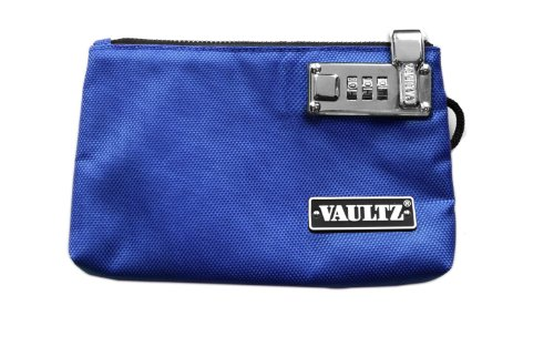 Vaultz Locking Zipper Pouch, 5 x 8 Inches, Blue (VZ00473)
