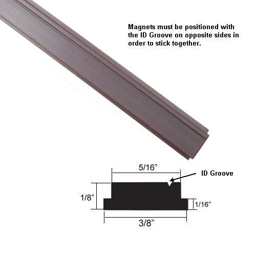 Flexible Magnetic Strip Insert for Framed Swing Shower Doors with 3/8