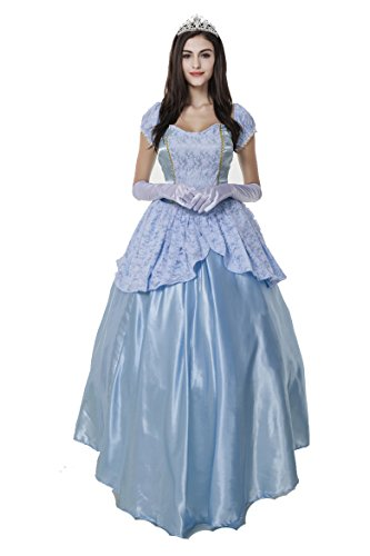 Blidece Women's Deluxe Classic Cinderella Long Dress (Adult Cinderella Dress)