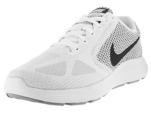 NIKE Women's Revolution 3 Running Shoe, White/Mtlc Dark Grey/Wolf Grey, 5 B( M) US