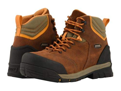 Bogs(ボグス) メンズ 男性用 シューズ 靴 ブーツ 安全靴 ワーカーブーツ Bed Rock Mid Puncture Proof - Brown Multi [並行輸入品]  B07KQNQVGC
