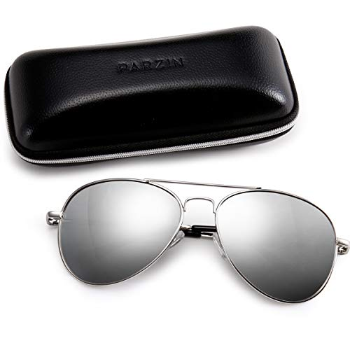 Classic Men Sunglasses for Aviator PARZIN Women Vintage Mirrored Beach Glasses UV Protection