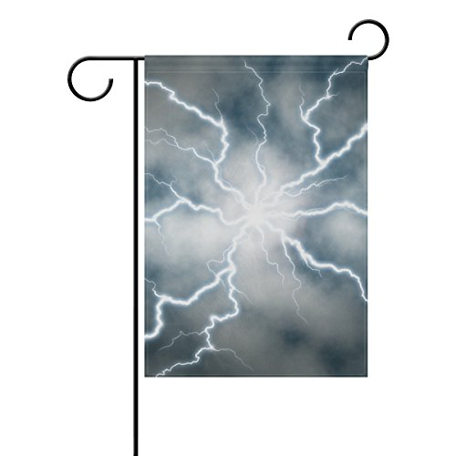 Dragon Sword Electric Discharge Garden Flag Double-Sized Print Decorative Holiday Home Flag, 28 x 40 Inches