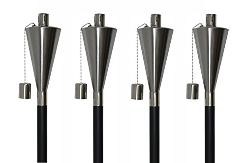 Patio Essentials 31106BK Stainless Cone Garden Torch, 60