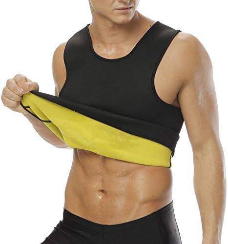 MIRANCO Body Shaper Hot Sweat Workout Tank Top Slimming Waist Trainer Neoprene Vest for Weight Loss No Zipper Black