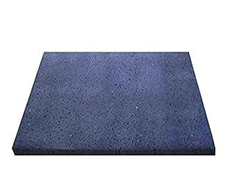 Lava Piedra del Ätna, pulido, para barbacoa, 39 x 35 cm, ideal para Carne y pescado