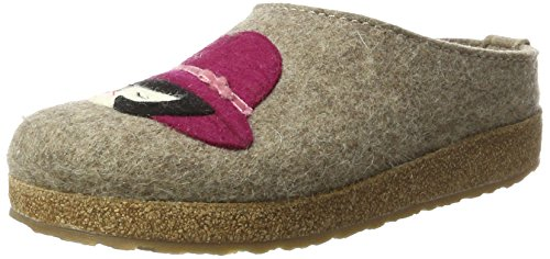 Franzi Grizzly torf Chaussons Haflinger Beige Femme gavHqqw