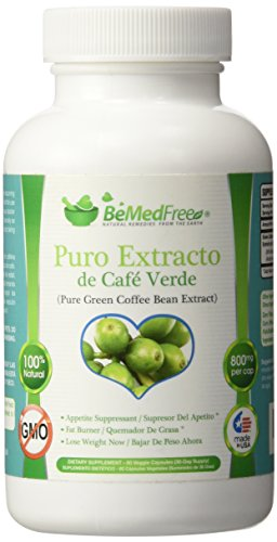 BeMedFree.com Café Verde Puro pastillas de 800 mg ♥ Pure Green Coffee Bean Extract 800 mg by BeMedFree.com