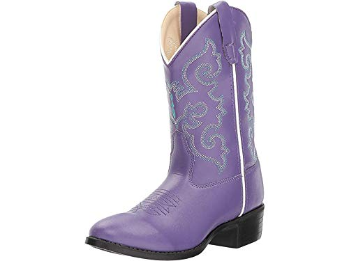 Old West Kids Boots Baby Girl's Pearlized Purple (Toddler/Little Kid) Purple 11.5 M US Little Kid -