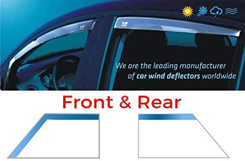 Tinted Heko WD20144-8257 5 Doors Model Only Wind Deflectors Rain Guards front and rear Full Set