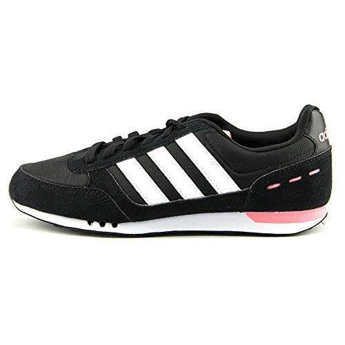 adidas NEO Women's City Racer W Running Shoe, Core Black/Running White/Light Flash Red, 7.5 M US