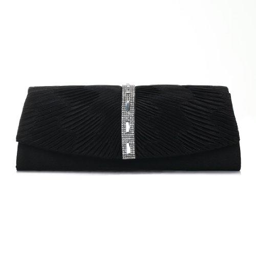 Damara - Bolso al hombro para mujer Big, color negro, talla Big negro