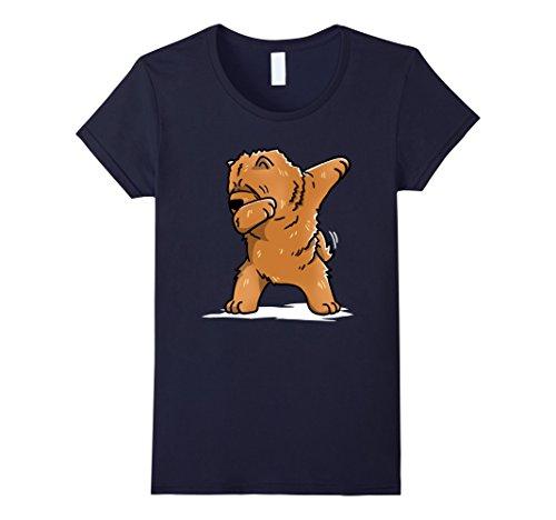 Chow Dog T-shirt - Womens Funny Dabbing Chow Chow Dog T-Shirt Dab Dance Gift Shirt Medium Navy