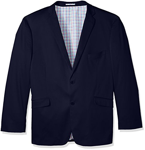 U.S. Polo Assn. Men's Big and Tall Stretch Cotton Sport Coat, Navy Lycra, 52 Long Cotton Spandex Blazer