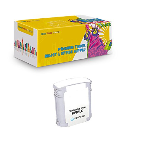 New York TonerTM New Compatible 1 Pack C9428A HP 85 High Yield Inkjet For HP Designjet 30 | 130 . -- Light Cyan