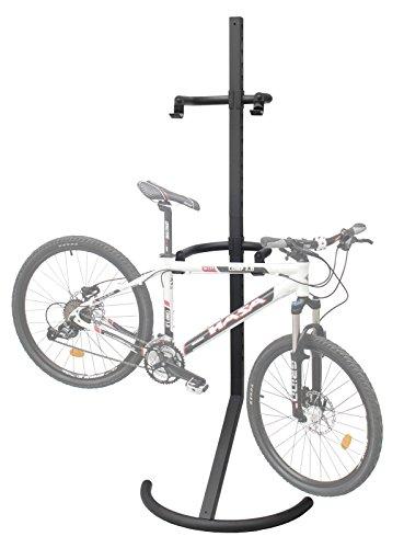 2 Bike Bicycle Storage Floor Garage Parking Rack Stand leans Against Wall