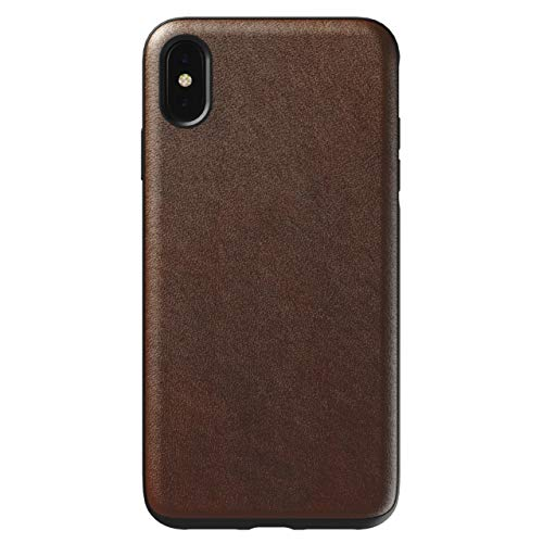 NOMAD Rugged Case for iPhone Xs Max   Rustic Brown Horween Leather