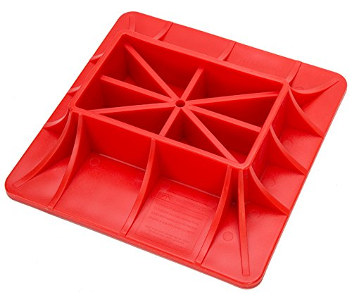 8MILELAKE Jack Off Road Base, ABS Off-Road Base Lifting Jack Surface Pad to Alleviate Jack Hoisting Sinkage,Red,11.2