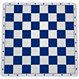 "100% Silicone Portable Tournament Chess Mat, 20"" x 20"", Blue"