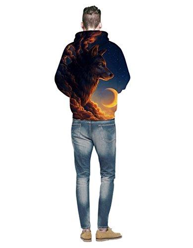 Galaxia 3d Varios Arte Impreso Saindermira Sudaderas Estilos Cuello Capucha Largas Redondo Mangas Mirada La Suéter De Con Unisex 5EwqqH6xf